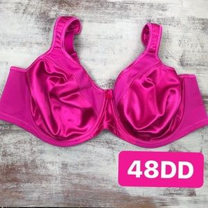 Goddess Pink Lace Unlined Full Coverage Bra 48DD